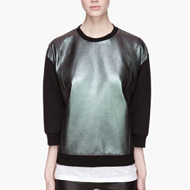 Neil Barrett - Iridescent Leather sweatshirt