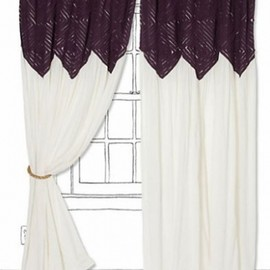 ANTHROPOLOGIE - アンソロポロジー(ANTHROPOLOGIE)カーテン Pheasant Eye Curtain -Plum 1