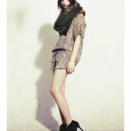 HARICOT ROUGE - ◇Animal Printed Silk T-dress