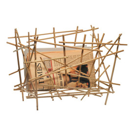 Alessi - Blow Up Magazine Holder, Bamboo