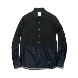 uniform experiment - 2 TONE DENIM SHIRT