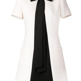 VALENTINO - Contrast-Inset A-Line Dress