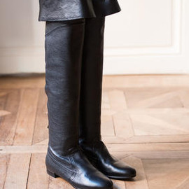 Alaia - Black Leather High Boots