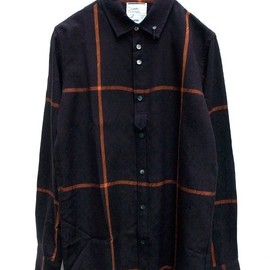 SHAREEF - SHADOW JQ CHECK SHIRTS-BLACK