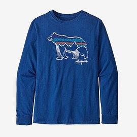 patagonia - Boys' Long-Sleeved Graphic Organic Cotton T-Shirt