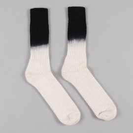 GOODHOOD - Goods By Goodhood Goods x Marwood Dip Dye Socks - Cream/Black