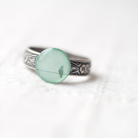 BEAUTYSPOT - Mint bird ring - Winter jewelry (R040)