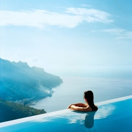 Italy - infinity pool at Hotel Caruso