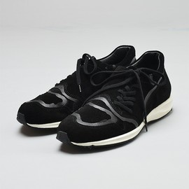 foot the coacher x TAKAHIROMIYASHITA The SoloIst - F.A.S.t. side lace Sneaker (Black)