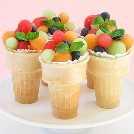 Fruit Salad Ice Cream Cones