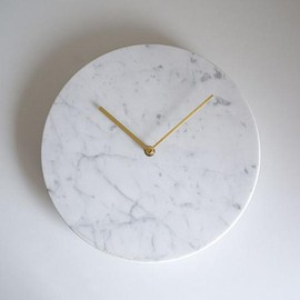 menu - Marble Wall Clock(White)