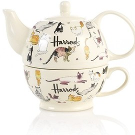 Harrods - Kates Cats Teapot And Cup