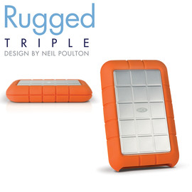 LaCie - LaCie rugged triple USB3.0 LCH-RG010T3