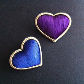Sophia 203 - heart brooches