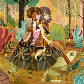 Meg Hunt - Tortoise Ride Stretched Canvas
