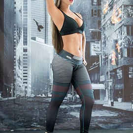 fiber france - ELECTRA LEGGING : Fitness, Musculation, Yoga, Jogging, StreetWear