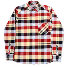 bal - TRICOLOR OXFORD PLAID BD SHIRT