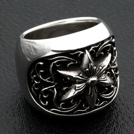 chrome hearts - Oval Star Ring
