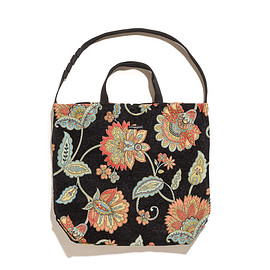 ENGINEERED GARMENTS - Carry All Tote-Rug Jacquard-Black Floral