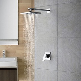 Faucetsmall - Chrome Wall Mount Rain Single Handle Shower Faucet (0758-HM-6109) - Faucetsmall.com