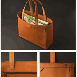 POSTALCO - tote bag large cross grain leather