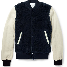 sacai - FLEECE AND WOOL BOMBER JACKET