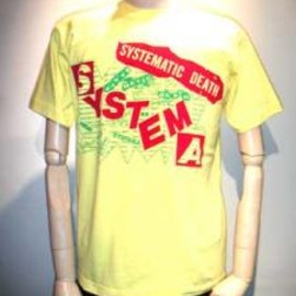fuudobrain - SYSTEMATIC DEATH 復刻T-shirt YELLOW