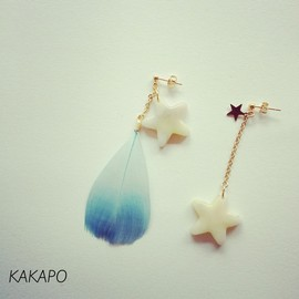 KAKAPO - Blue shooting star pierce (NO. 413)