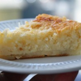 homemade coconut pie