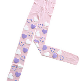 Candy Stripper - Candy Stripper COLORFUL HEARTS TIGHTS