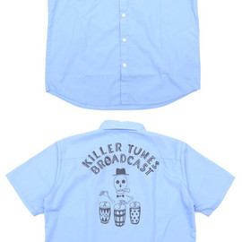 WACKO MARIA - KILLER TUNES BROAD CAST WORK SHIRT