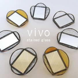 vivo stained glass works - ミニミラー プレート