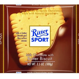 Ritter SPORT - Milk Chocolate with Butter Biscuit