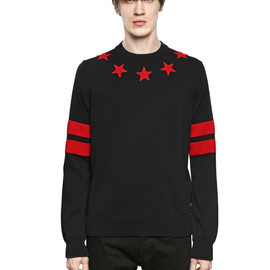 GIVENCHY - STARS PATCHES ON COTTON SWEATER