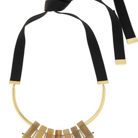 MARNI - Gold-plated, horn and crystal necklace