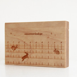 CEMENT PRODUCE DESIGN, Card Chest - measurement landscape / birch