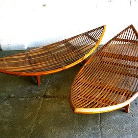 FunkyLuxe - Bali Teak Wood Poolside Hammocks
