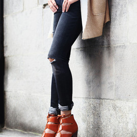 JEFFREY CAMPBELL - Jeffrey Campbell + Free People Dahlia Lace Up Heel