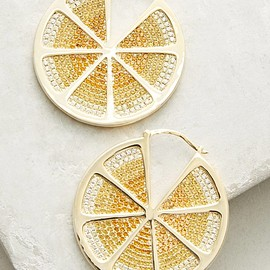 Anthropologie - Lemon Hoop Earrings