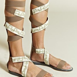Damir Doma - Knee High Embroidered Sandals