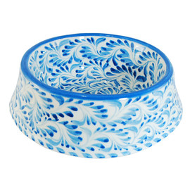 etsy HolaPapelMache - Talavera Poterry Pet Bowl - For small and large dogs