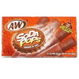 A & W - Root Beer Soda Pops Freeze & Eat Popsicles
