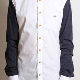 Vivienne Westwood MAN - Contrast Jersey Arm Shirt in White