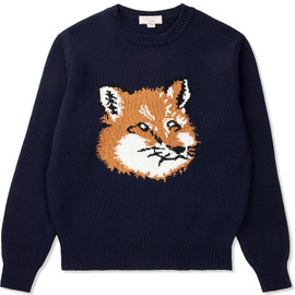 MAISON KITSUNÉ - Fox Head Pullover Knit