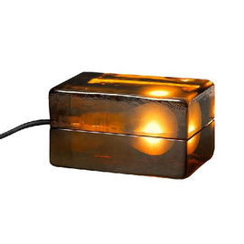 DESIGN HOUSE stockholm - Block Lamp amber by Harri Koskinen