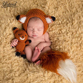 baby hat and fox doll(without tail )