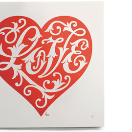 House Industries - English House Industries Love Heart Print