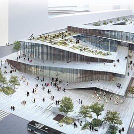 Kengo Kuma - saint-denis pleyel emblematic train station