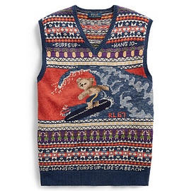 POLO RALPH LAUREN - Surfer Bear Cotton-Blend Vest