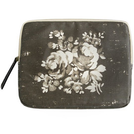 valerie makeup bag, round collar charcoal